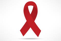 艾滋病标志红丝带设计矢量素材