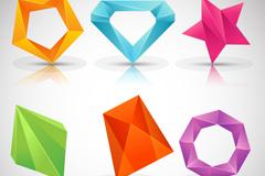 6款彩色立体标志设计矢量素材