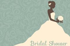 复古新娘婚纱秀海报矢量素材