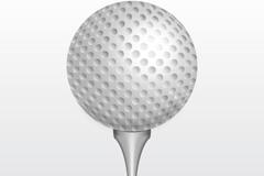 精美白色高尔夫球矢量素材