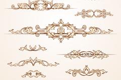10款复古欧式花纹设计矢量素材