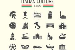 25款意大利旅游元素图标矢量素材