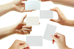6款手持空白名片模板图片素材