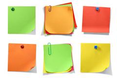 9款彩色便签纸图片素材