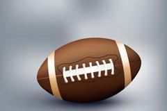 精美美式橄榄球用球矢量素材