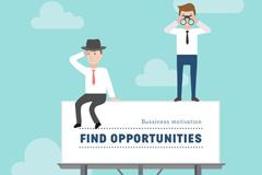 创意寻求机遇商务人物插画矢量素材