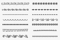 18款创意黑色花边矢量素材