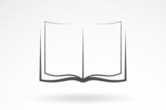 对开的书本标志设计矢量素材