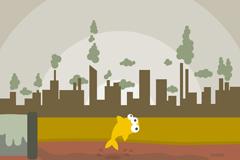 创意环境污染插画矢量素材