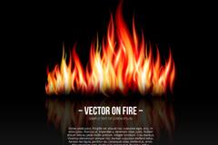 逼真火焰设计矢量素材