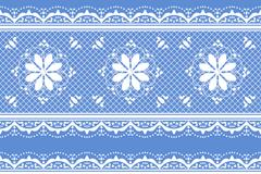 清新蓝色蕾丝背景矢量素材