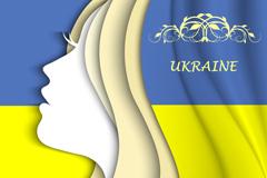 乌克兰女子侧脸矢量素材