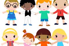 12款可爱卡通小孩矢量素材