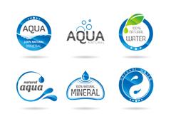 9款水元素标志设计矢量素材