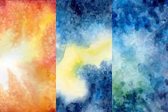 3款水彩背景图片素材