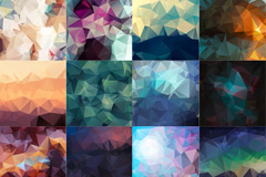 24个晶体状背景图片素材