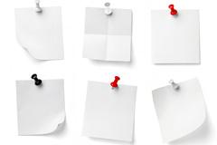 9款空白便签和图钉图片素材下载