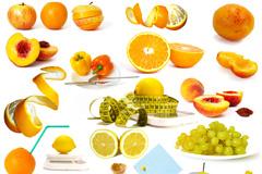 苹果橙子香蕉减肥主题高清图片