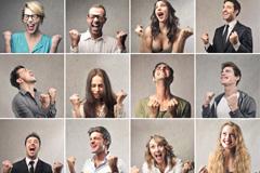 16个兴奋高兴表情人物图片