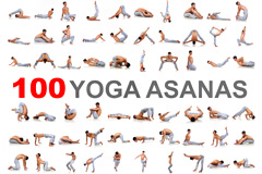 100个男子瑜伽动作高清图片素材