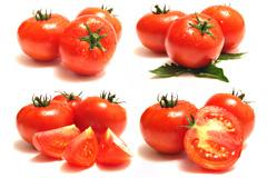 一组切开的西红柿高清图片