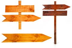 3款木箭头指示牌高清图片