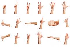 35种手势高清图片素材