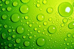 水珠绿色背景高清图片素材