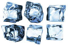 9款蓝色冰块高清图片素材