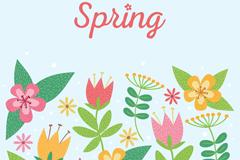 春季卡通花卉矢量素材