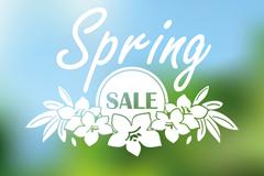 春季促销海报设计矢量图