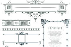 8款欧式风格花纹边框矢量图
