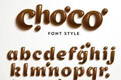 巧克力字母设计矢量素材