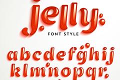 创意果冻字母设计矢量素材