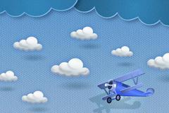 飞行的滑翔机剪贴画矢量素材