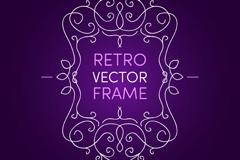 创意花纹边框紫底背景矢量图