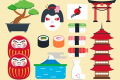 12款卡通日本元素设计矢量素材