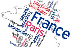 创意法国地图矢量素材