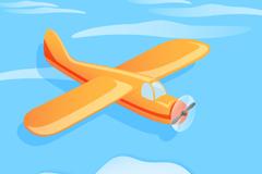 卡通轻型飞机设计矢量素材