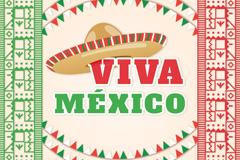 墨西哥风格度假插画矢量素材