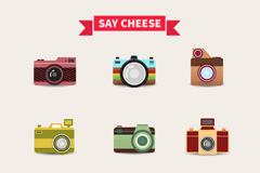 9款彩色相机设计矢量素材