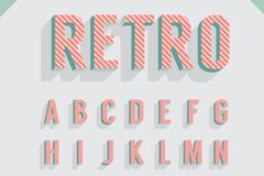 复古斜纹字母设计矢量素材
