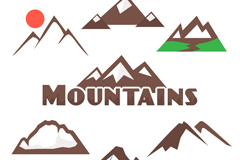 7款创意山峰标志矢量素材