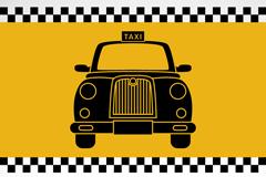 复古出租车设计矢量素材