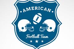 美式橄榄球标志矢量素材
