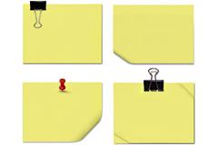 6款黄色便签纸高清图片