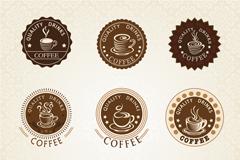 9款复古优质咖啡标签矢量图