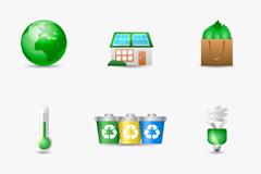 9款精美生态环保图标矢量图