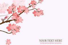 樱花花枝背景矢量素材