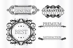 7款花纹与优质标签矢量素材
